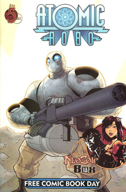 Atomic Robo NeoZoic Box 13 Free Comic Book Day 2010