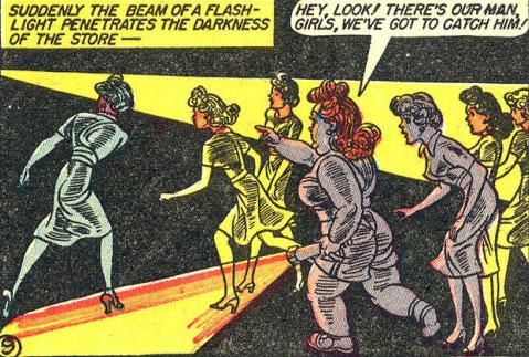 Etta and Beeta Lambda Sorority hear the robbers.