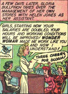 Gloria makes good on her better employee treatment.