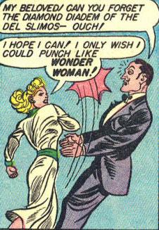 Gloria punches her boyfriend.