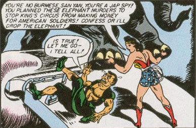 Wonder Woman discovers San Yan is a Japanese spy