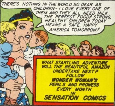 Wonder Woman's milk ad