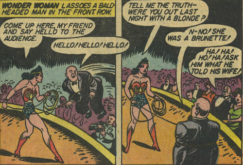 Sensation Comics #10 Wonder Woman uses her lasso