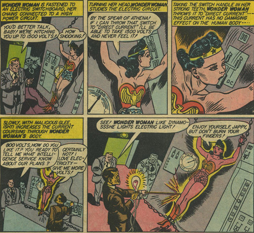 Sensation Comics #10 Ishti tortures Wonder Woman