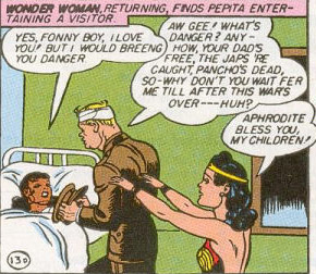 Wonder Woman blesses Mint and Pepita's love.