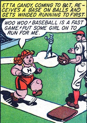 Etta runs to first base.