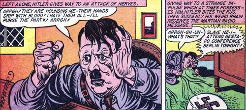 Hitler chews on his rug