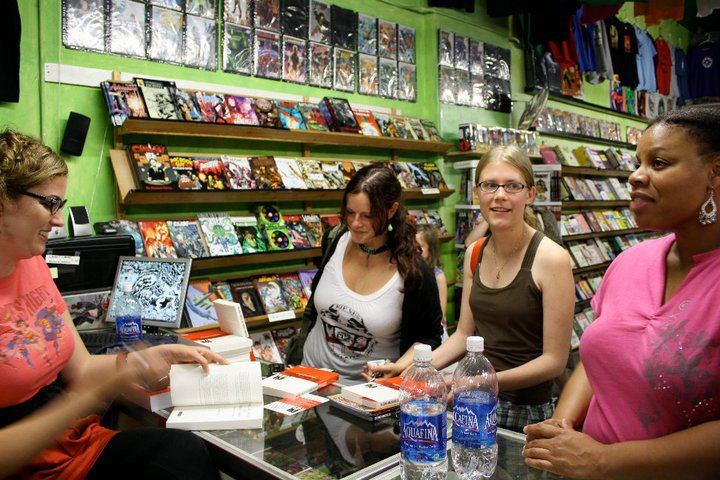 Ladies Comic Nigh at Comic Dungeon Jennifer, Amanda, Erica, and Uhura