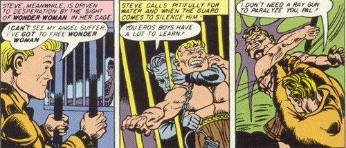 Sensation Comics #11 Steve Trevor and a prison guard