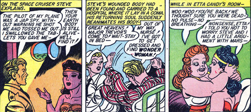 Wonder Woman and Steve return to Earth