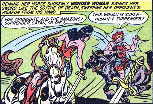 Wonder Woman out jousts Satan
