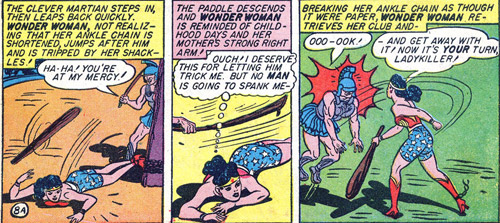 Wonder Woman gets a spanking from Mars' slave