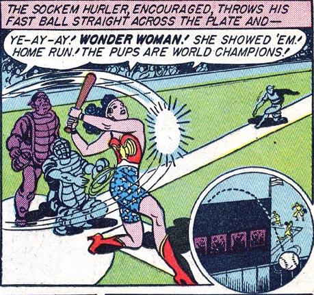 Wonder Woman wins the World Series.