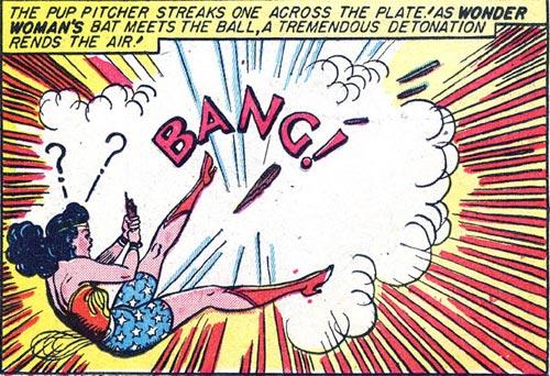 Wonder Woman's bat explodes