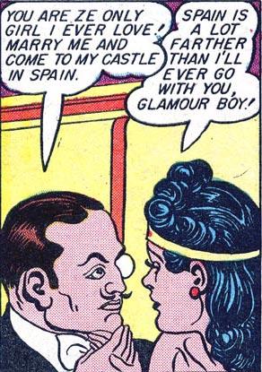 Wonder Woman #2 Count Crafit tries to seduce Wonder Woman