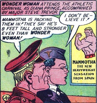 Wonder Woman #2 Diana and Steve attend Mammotha's fight.