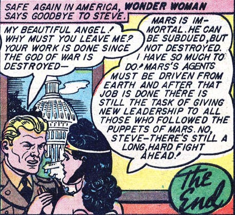 Wonder Woman #2 Wonder Woman reminds Steve at the fight's not over