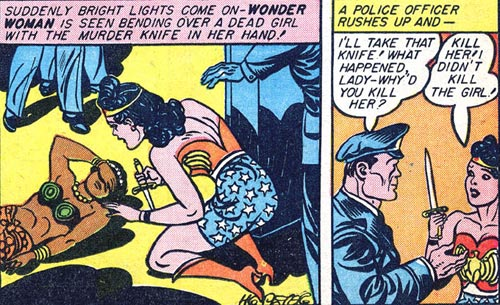 Wonder Woman #2 Wonder Woman with a knife over Naha's body