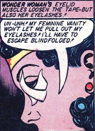 Wonder Woman #2 Wonder Woman eyelashes