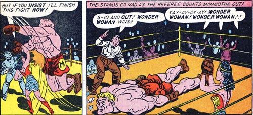 Wonder Woman #2 Wonder Woman knocks out Mammotha