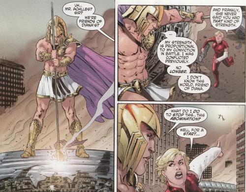 Achilles helps Wonder Woman