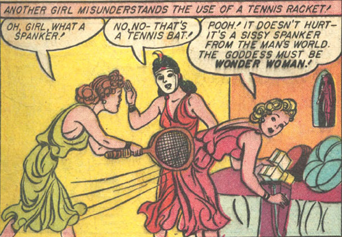 The Amazons misuse a tennis racket