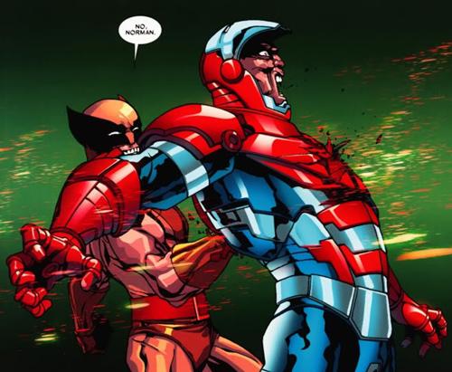 Daken stabs Norman Osborn