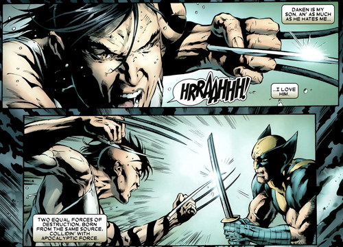 Daken and Wolverine fight