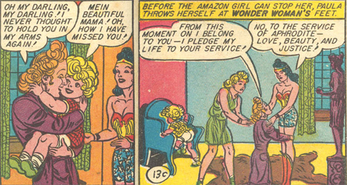 Paula is reunited with Gerta. She pledges to follow Wonder Woman.