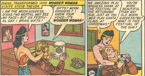 Diana gives Steve a mental radio