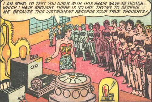 Wonder Woman uses the Amazon lie detector. Fact: writer William Moulton Marston invented the lie detector.