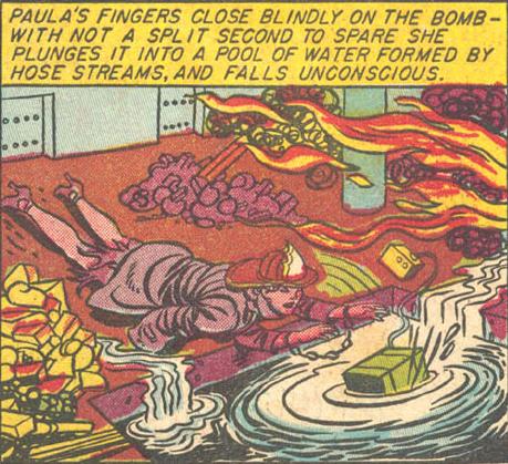 Paula stops the bomb.
