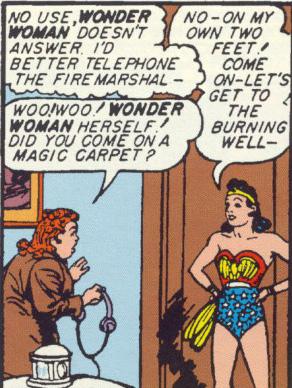 Etta still doesn't figure out Wonder Woman's secret identity.