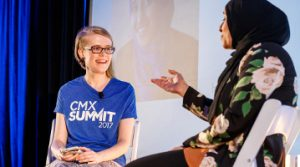 I'll help take you to the next level. Erica with Marya Bangee at CMX Summit.