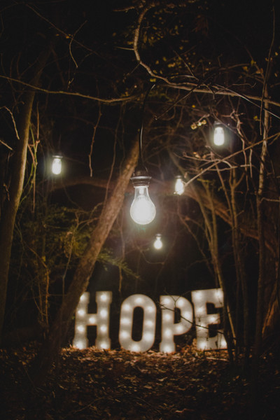 Hope with lights